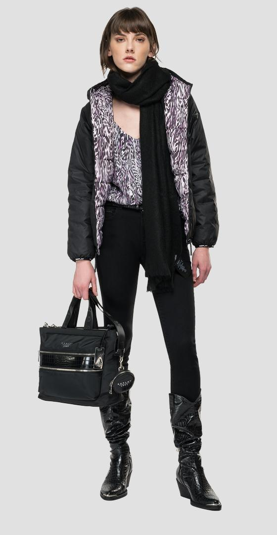 Double-faced jacket in recycled nylon w7667 .000.84200