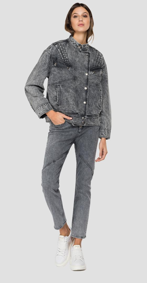 Giubbino in denim con revers w7676 .000.422 892