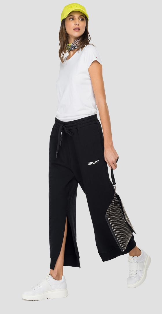 REPLAY fleece jogger pants with slits w8002 .000.22890p