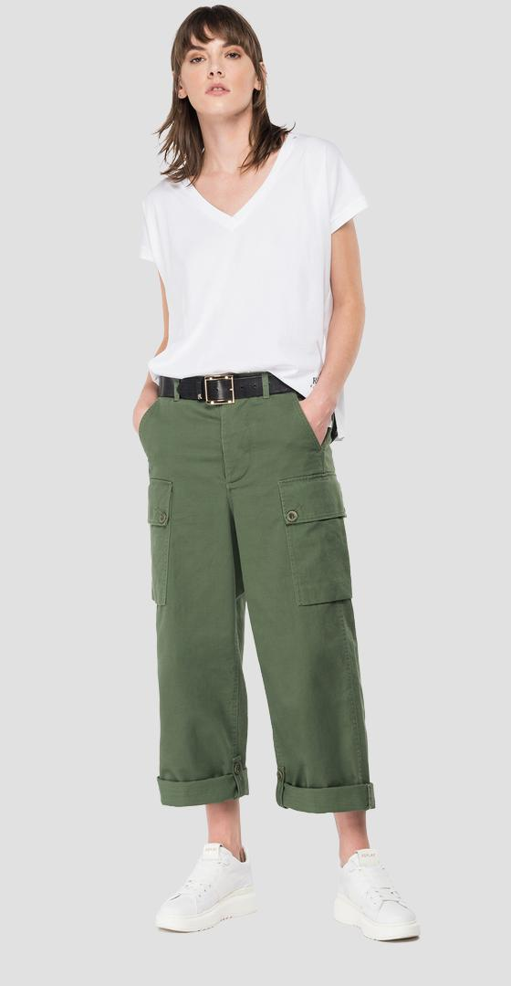 Cotton trousers with pockets w8521 .000.84024