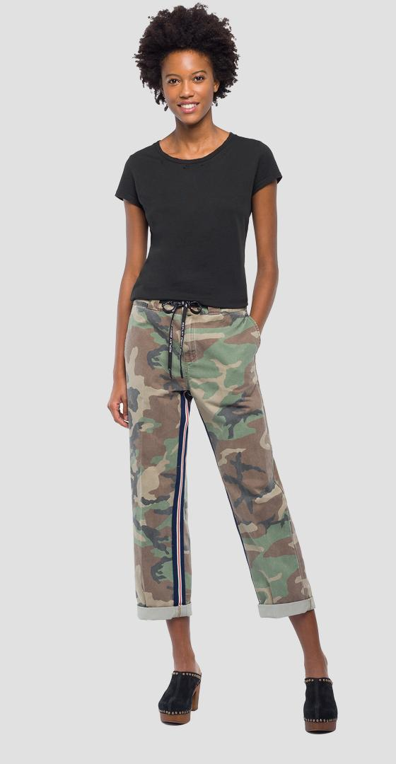 Chinohose in Camouflage-Optik w8812 .000.71638