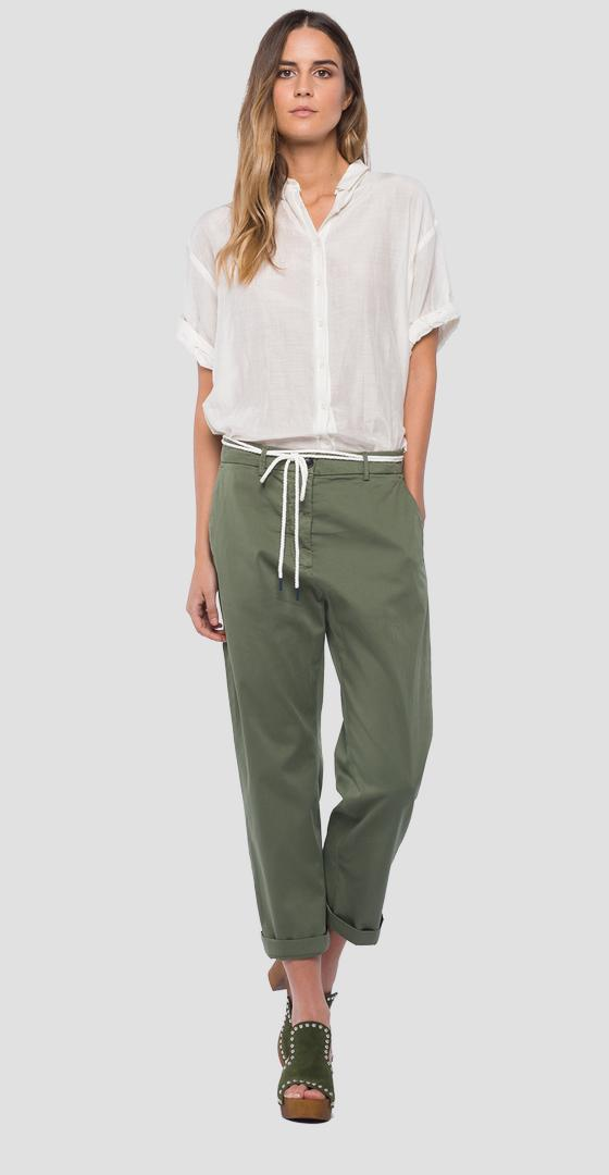 Chino trousers with cord belt w8840 .000.80655g