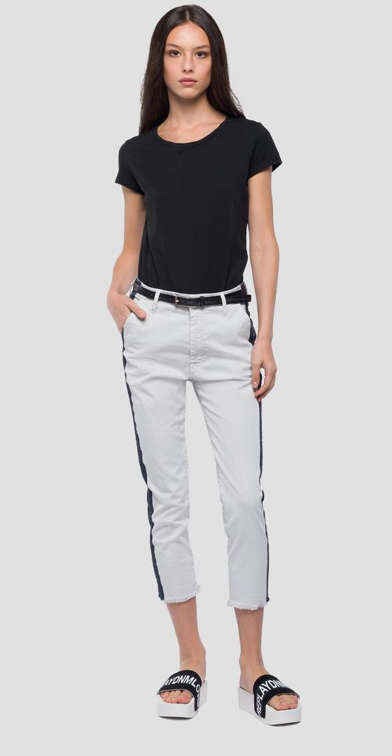Chino trousers with stripe w8841 .000.8085590