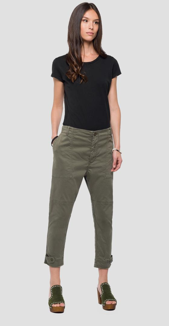 Cargo trousers with buttons w8842 .000.80803g