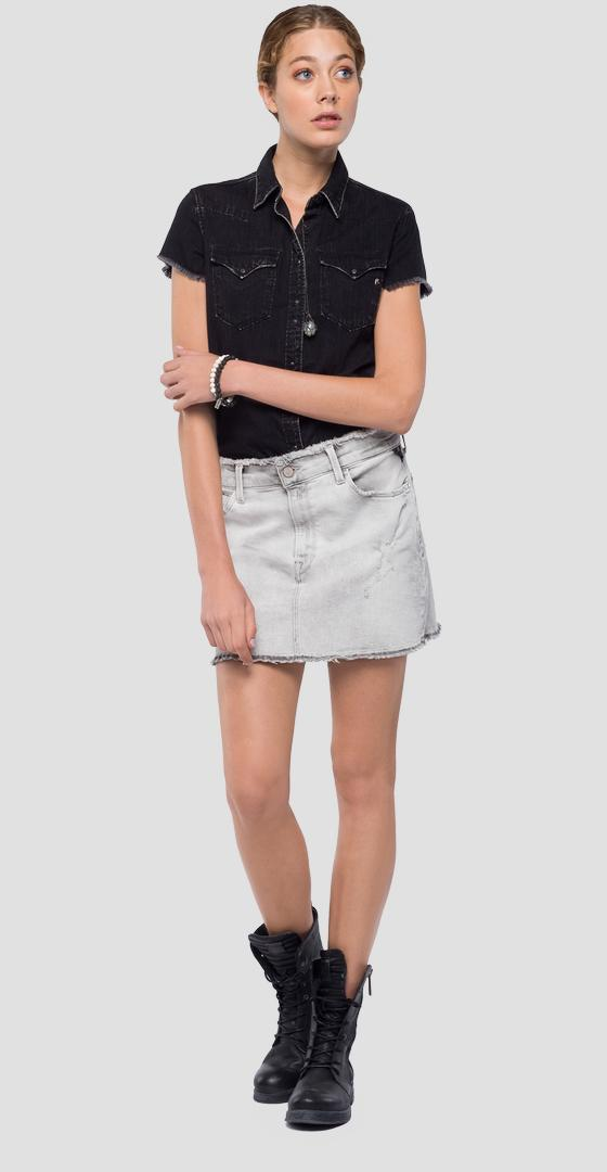 Denim miniskirt w9235 .000.145 426
