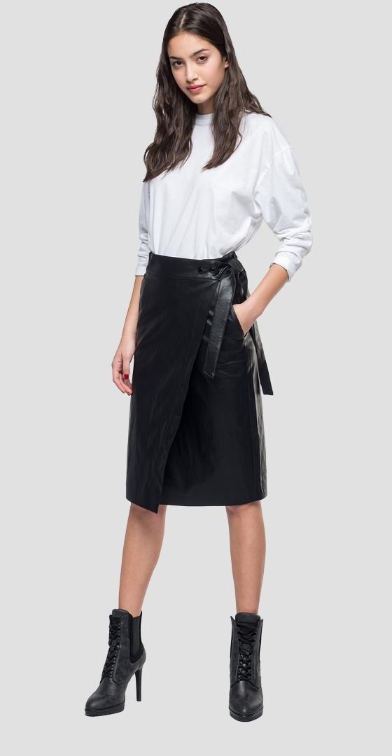Eco-leather midi skirt w9310 .000.83468