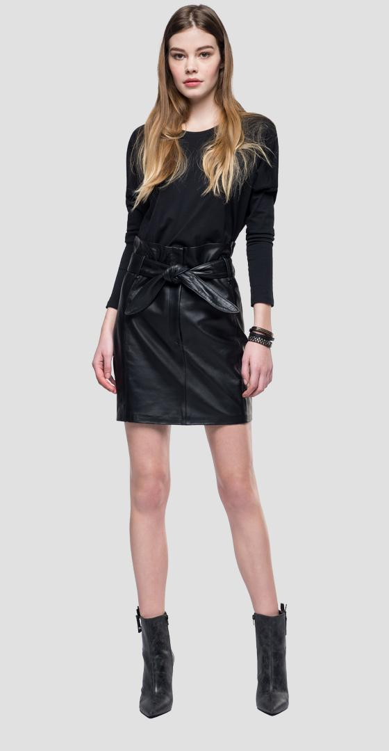Leather mini skirt w9320 .000.83254