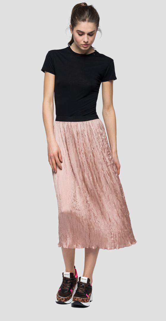 Mid calf skirt with crinkly effect w9346 .000.82908s