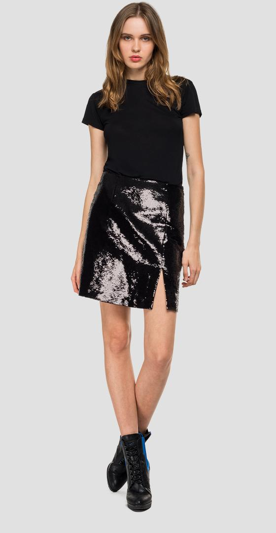 Mini skirt with sequins w9363 .000.83452