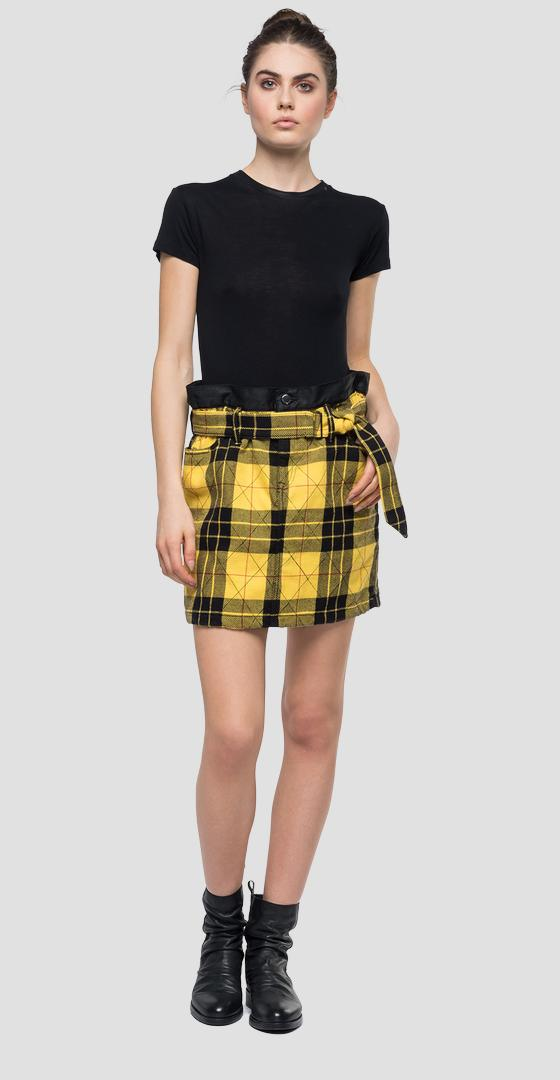 Mini skirt with checked pattern w9397a.000.10254