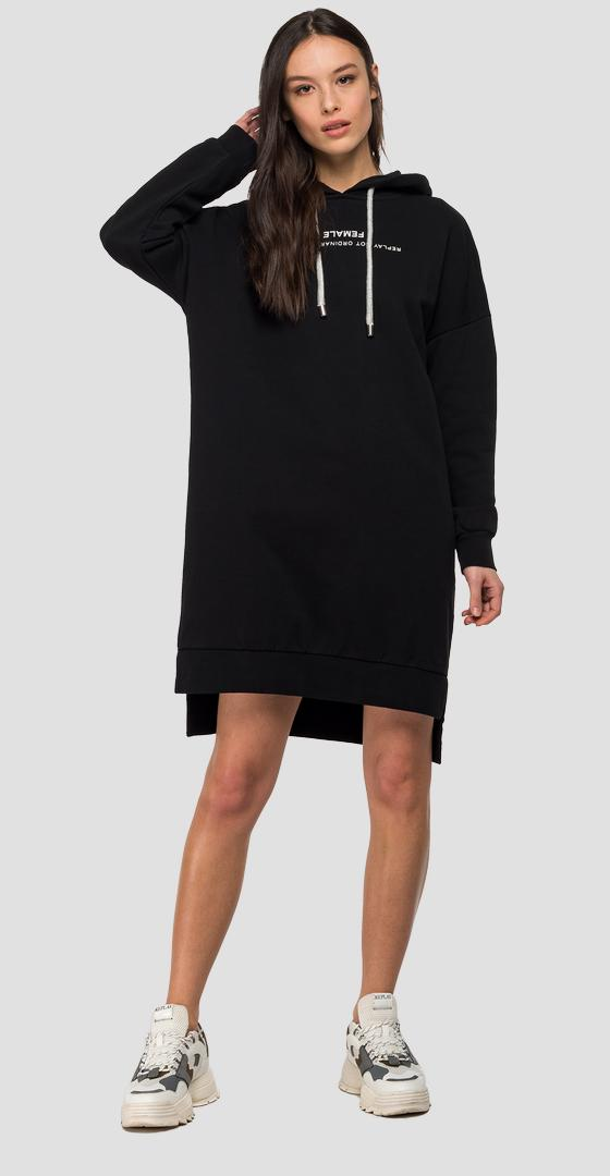 Sweatshirt dress with hood w9480 .000.21842