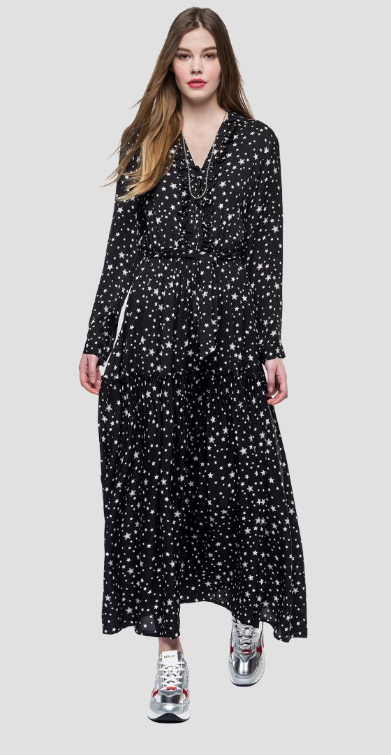 Long dress with stars w9512 .000.71826