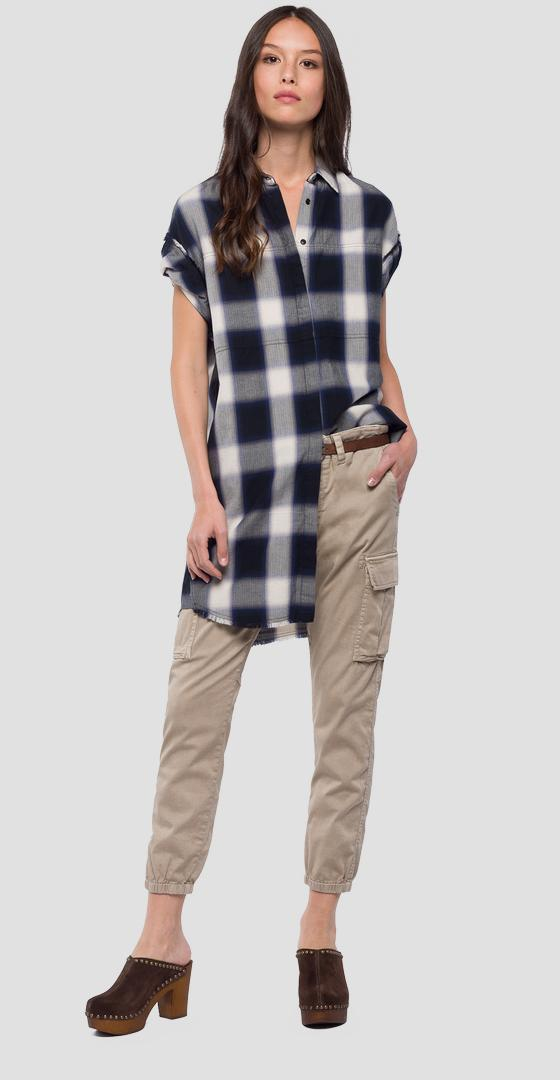Checked shirt dress w9528 .000.52112