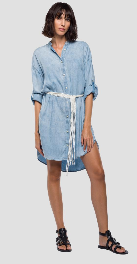 Denim dress with belt w9531b.000.54c 412