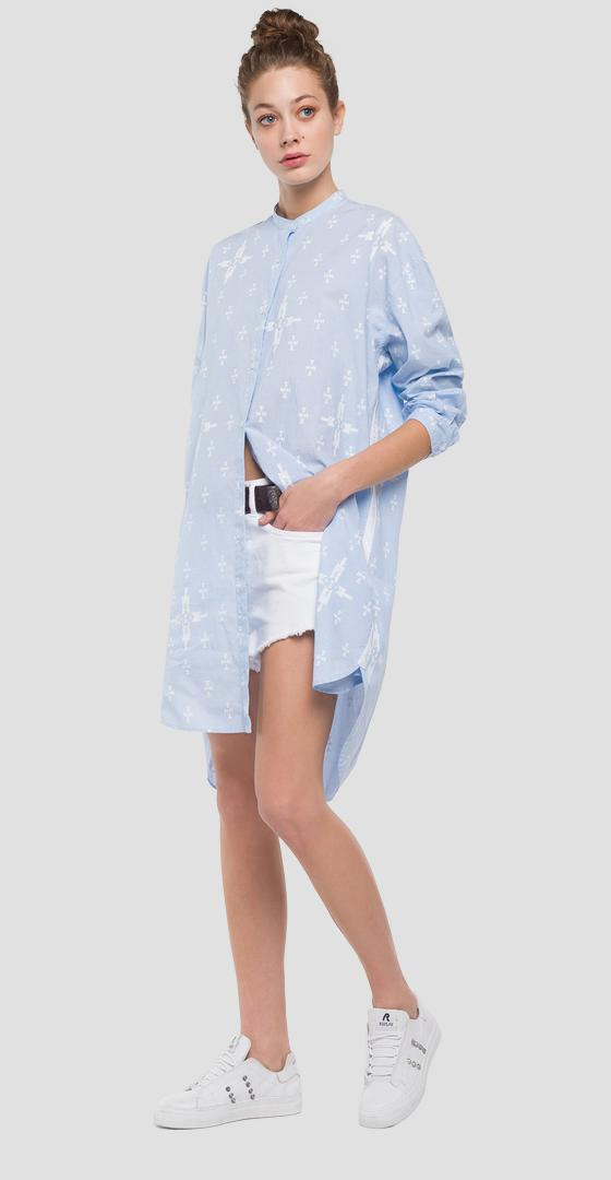 Shirt dress with tribal print w9531 .000.71718