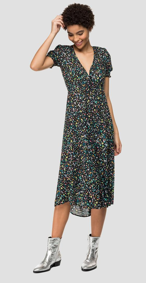 Floral dress with slit w9609 .000.72094