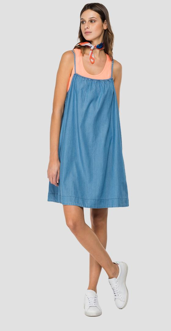Denim dress with pockets w9637 .000.54e 85c
