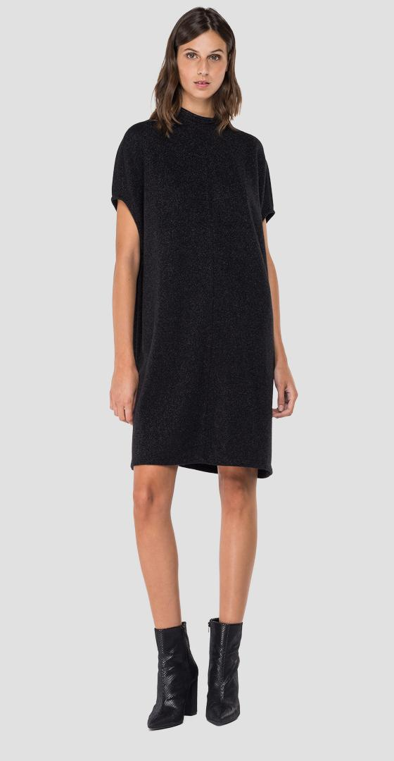 Crewneck dress with lurex w9685 .000.22672