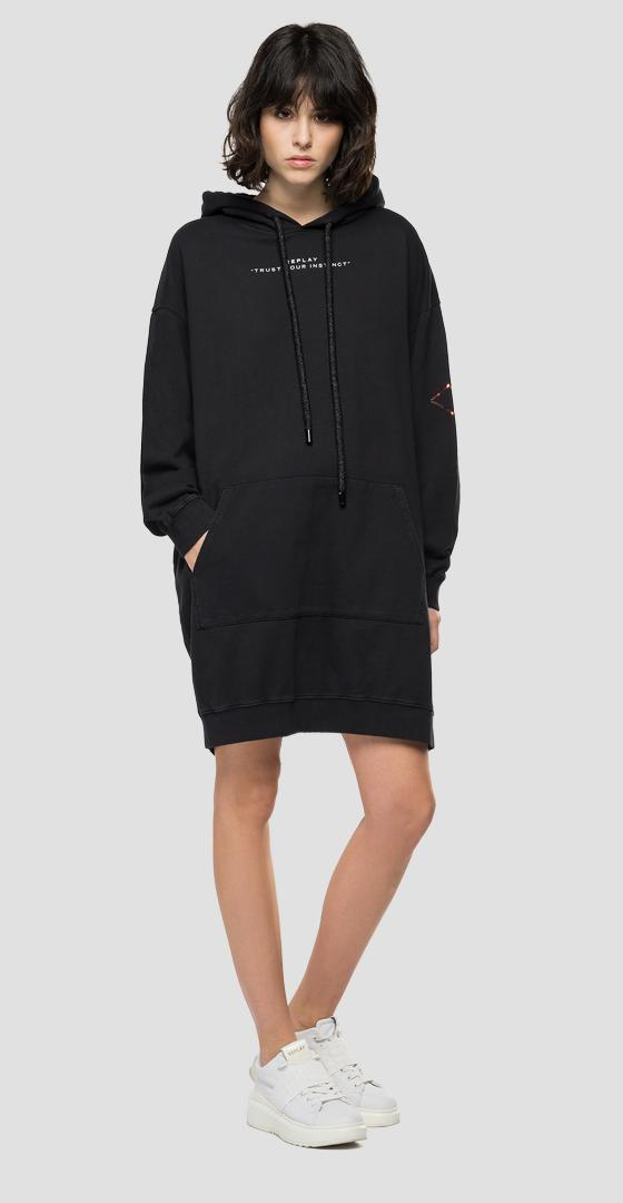 REPLAY oversized sweatshirt dress w9697 .000.23158g