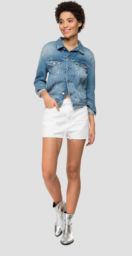 Shorts Rose Label con bordes sin rematar wa419 .000.8363639