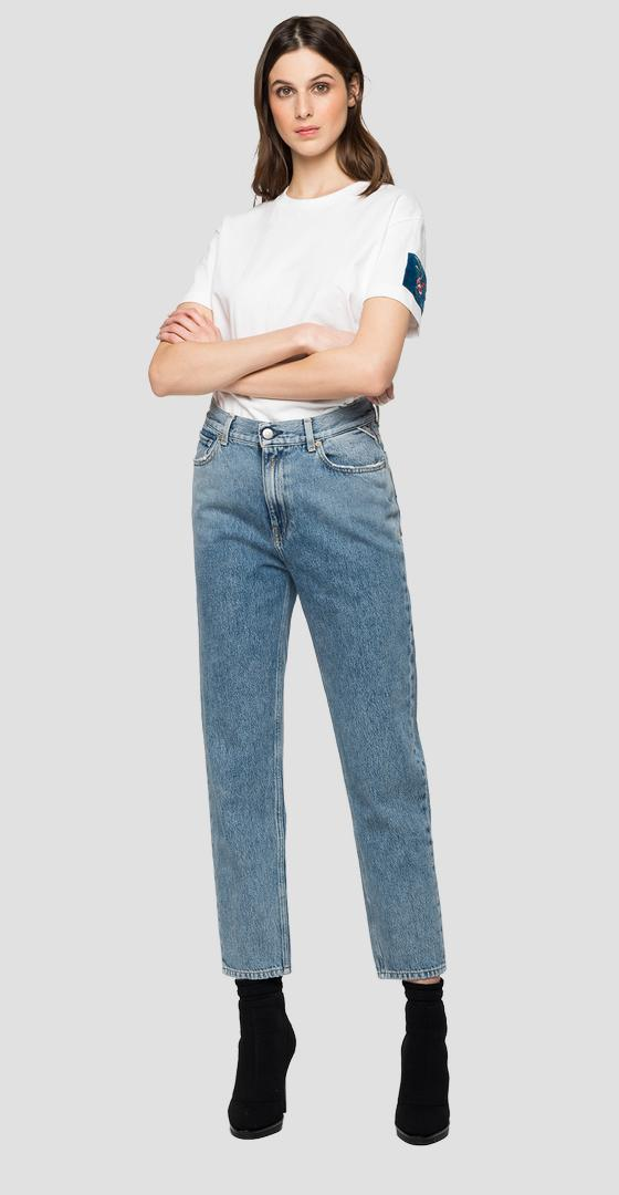Tapered fit high waist Kiley Rose Label jeans wa434r.000.108 729