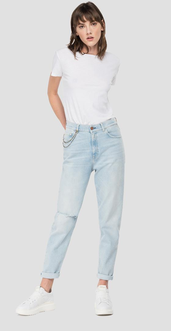 ROSE LABEL high waist tapered fit Kiley jeans wa434 .000.207 85d