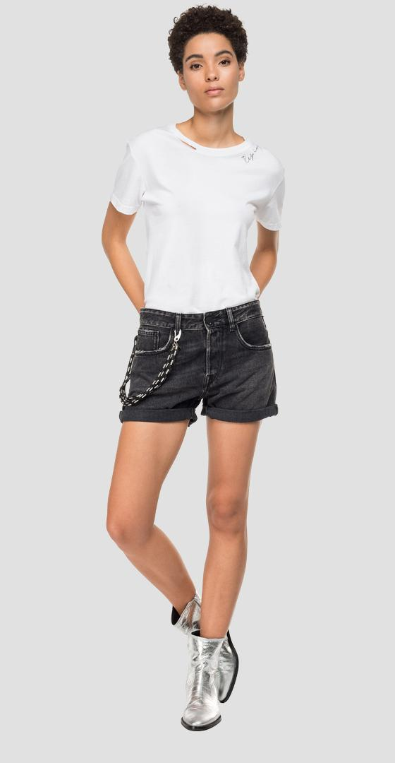Denim shorts with five pockets wa611 .000.142655b
