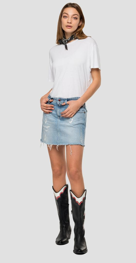 Replay Blue Jeans denim miniskirt wa9201.000.207670r