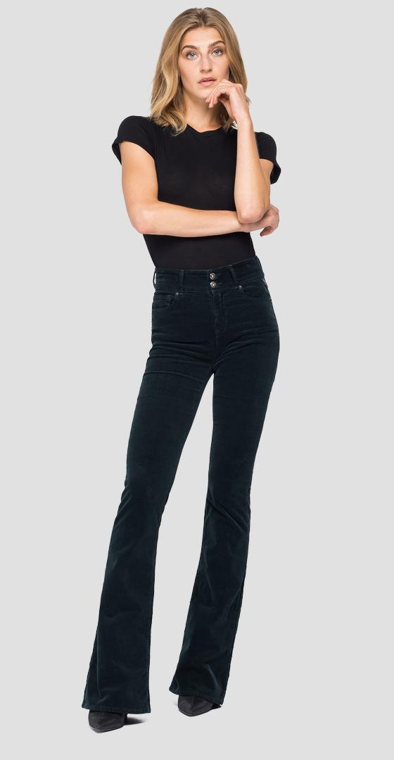 Pantaloni in velluto flare fit New Luz wlw689.000.8083195