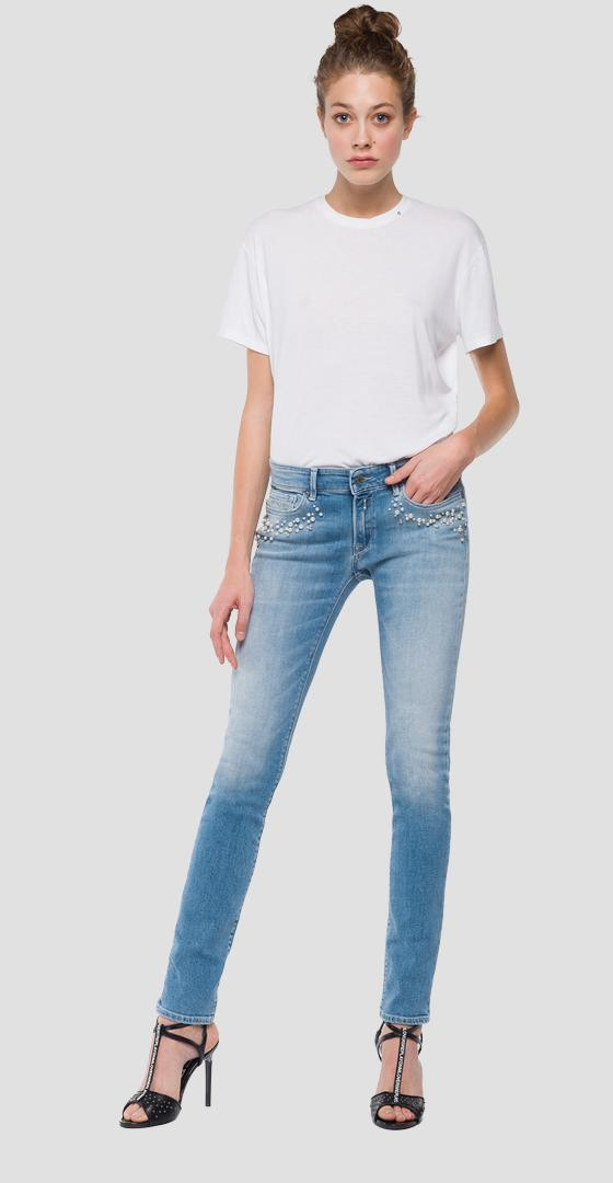 Skinny fit Luz jeans with pearls wx689p.000.69c 475