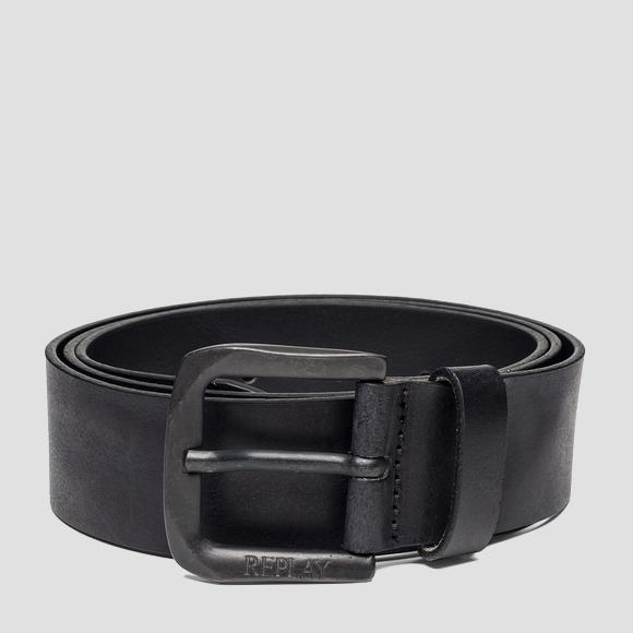 Leather belt with square buckle - Replay AM2453_000_A3001E_098_1