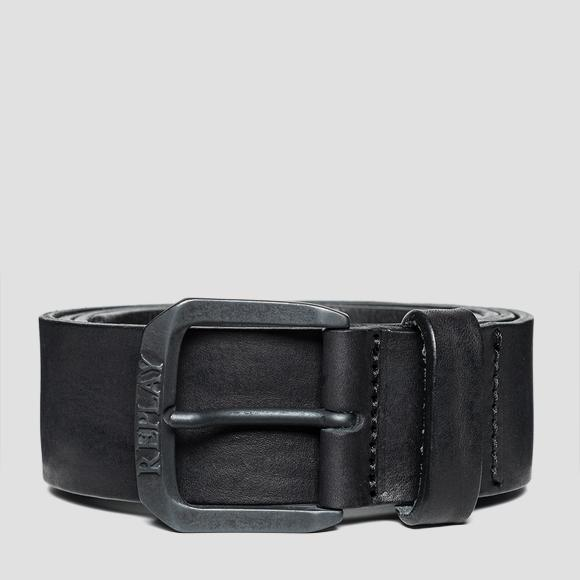 Leather belt with vintage effect - Replay AM2515_000_A3077_098_1