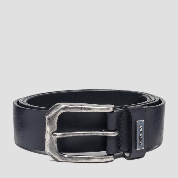 Crust leather belt - Replay AM2554_000_A3001_098_1