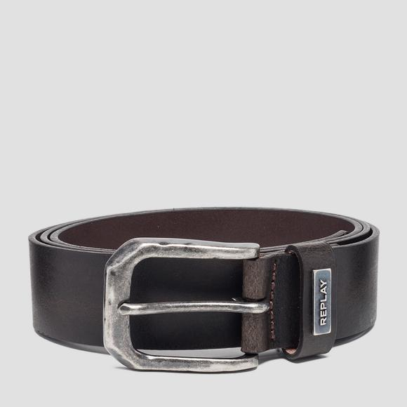 Crust leather belt - Replay AM2554_000_A3001_128_1