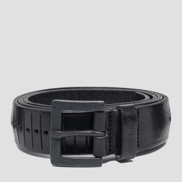 Engraved leather belt - Replay AM2555_000_A3007_098_1