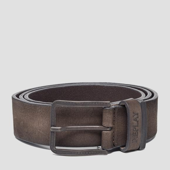 Nubuck leather belt - Replay AM2556_000_A3052_128_1