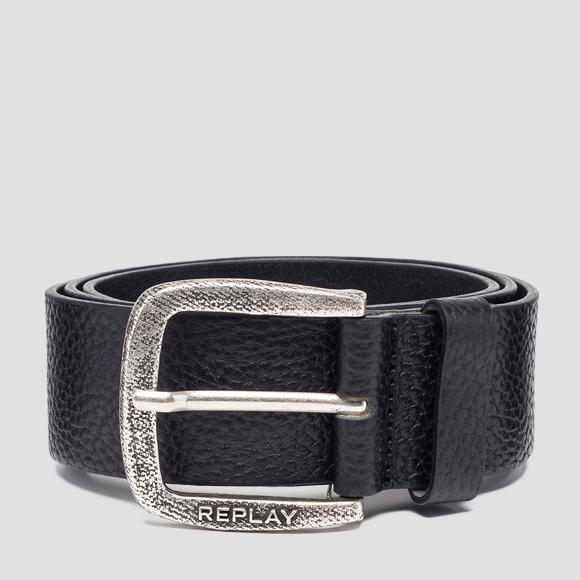 Hammered leather belt - Replay AM2565_000_A3061A_098_1