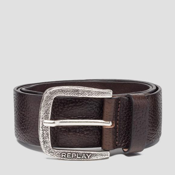 Hammered leather belt - Replay AM2565_000_A3061A_119_1