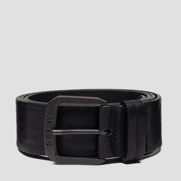 Leather belt with used effect - Replay AM2588_000_A3077_098_1