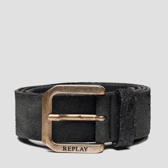 Leather belt with suede effect - Replay AM2598_000_A3024C_299_1