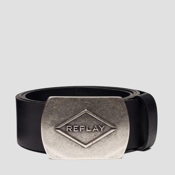 Smooth leather belt - Replay AM2600_000_A3001_098_1