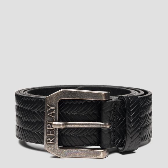 Belt in weaved leather - Replay AM2609_000_A3007H_098_1