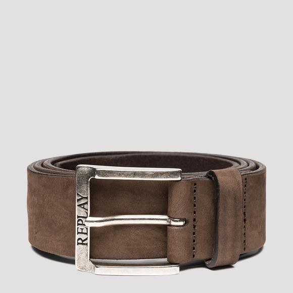 REPLAY belt in nubuck leather - Replay AM2611_000_A3052_128_1