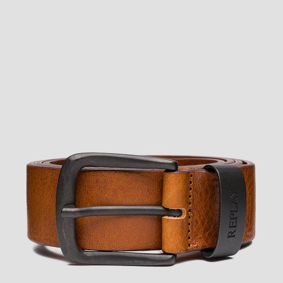 Leather belt with vintage effect - Replay AM2620_000_A3007_090_1