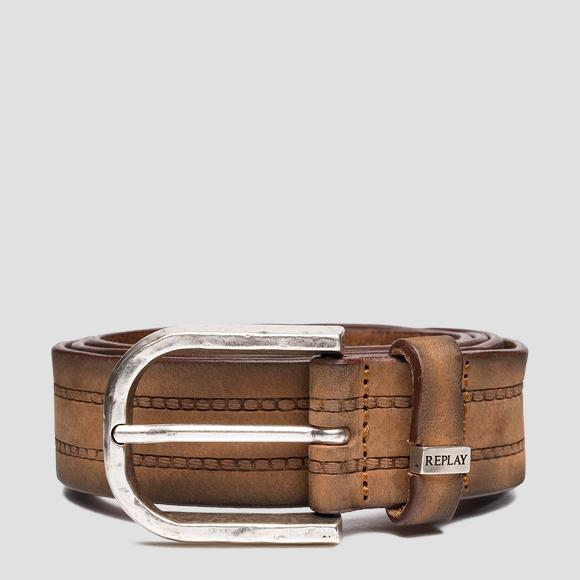 REPLAY belt in nubuck leather - Replay AM2623_000_A3052_068_1