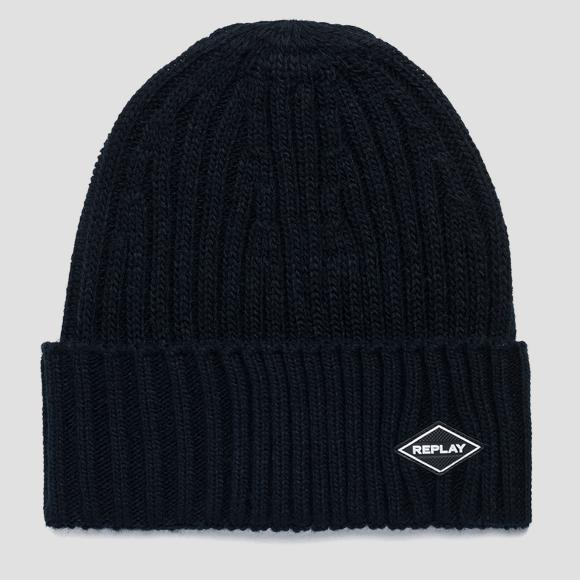 Ribbed REPLAY beanie - Replay AM4237_000_A7003_499_1