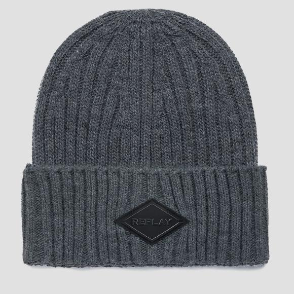 Solid-coloured ribbed beanie - Replay AM4237_001_A7003_016_1
