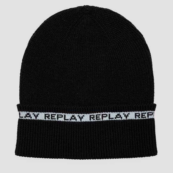REPLAY beanie with jacquard edge - Replay AM4247_000_A7003_098_1