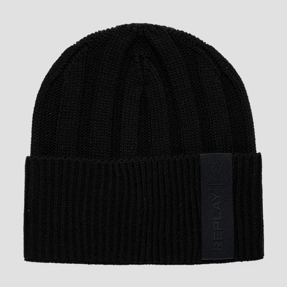 REPLAY ribbed beanie with turn-up - Replay AM4248_000_A7003_098_1
