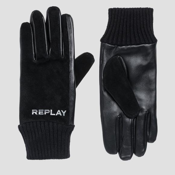 Guantes de piel y gamuza - Replay AM6048_000_A3175_098_1